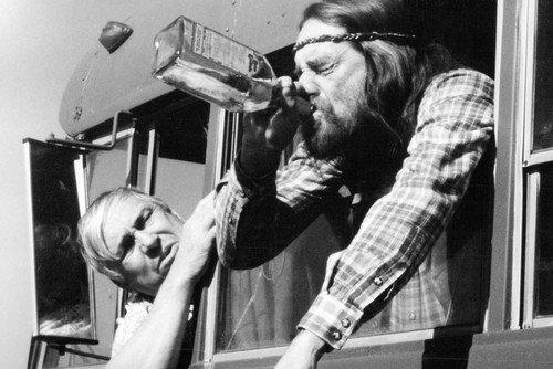 Slim Pickens Willie Nelson Drinking Whisky Bottle Honeysuckle Rose 24x36 Poster (Bottles Twenty)