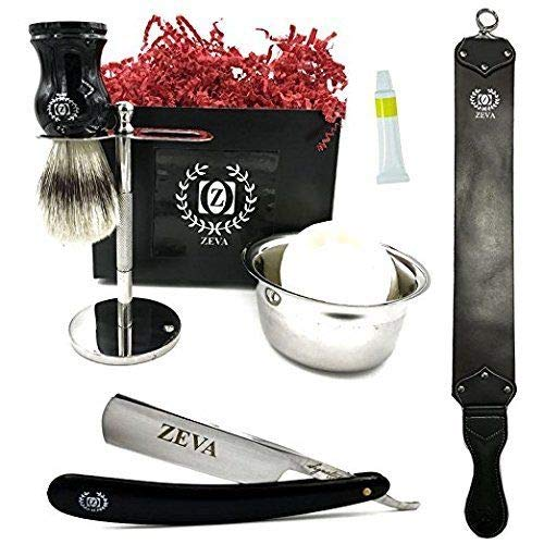 Mens Straight Razor Traditional Wet Shave Grooming Gift Kit 5/8