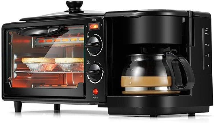 HIZLJJ 3 en 1 for Casa Desayuno Máquina Cafetera sartén Pan Tostadora Horno eléctrico panificadora automática: Amazon.es