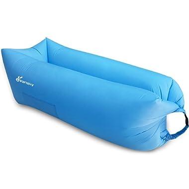 Vansky Inflatable Lounger, 3.0 Air Couch Sofa Hammock, Portable Pool Float Ships Waterproof Anti-Air Lay Bag Outdoor, Indoor, Camping, Beach, Backyard, Picnics, Music Festivals