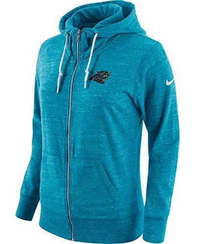 Carolina Panthers Women's Size Medium Full Zip Tailgate Hoodie Sweatshirt - Team Colors