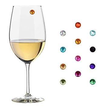 howhome cristal magnético copa de vino encantos, vino de cristal Marcadores, marcadores de copa