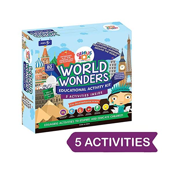 Genius Box Educational Toy for 5+ Year Age: World Wonders DIY, Activity Kit, Learning Kit, Educational Kit, STEM Toy
