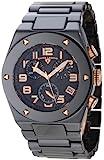 Swiss Legend Men's 10028-BKBRA Throttle Chronograph Black Dial Black Ceramic Watch, Watch Central