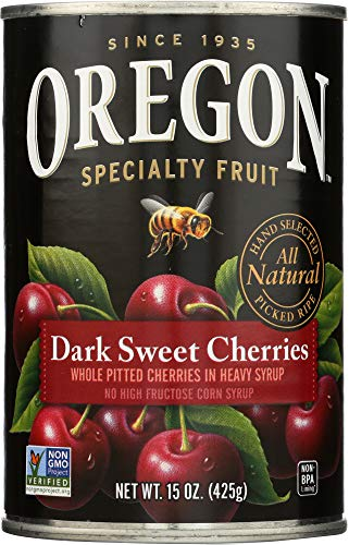 Oregon Specialty Fruit (NOT A CASE) Pitted Dark Sweet Cherries in Heavy Syrup