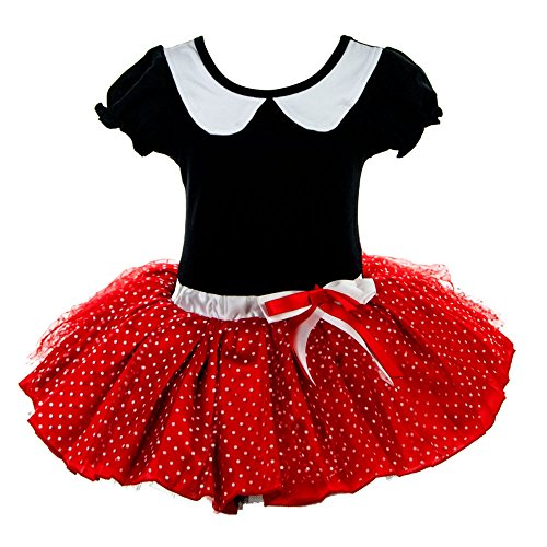 Starkma Baby Girl Child Elsa Anna Princess Tutu Dancewear Party Dress (90cm(3-4Y), Rockabilly Tutu ) for $<!--$16.99-->
