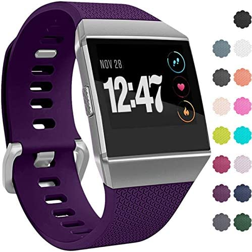 Wepro Bands Compatible with Fitbit Ionic SmartWatch, Watch Replacement Sport Strap for Fitbit Ionic Smart Watch, Large, Small 1