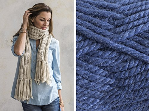 Craftsy Sprightly Quick and Easy Rib Scarf or Cowl Knitting Kit (Navy)