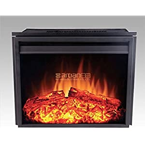 24' new Electric Fireplace Insert (2301T) | Adjust Temp Remote | Heater flame | 24' W x 8.75' D x 21' H | 750W or 1500W adjust | no power plug, only direct wire
