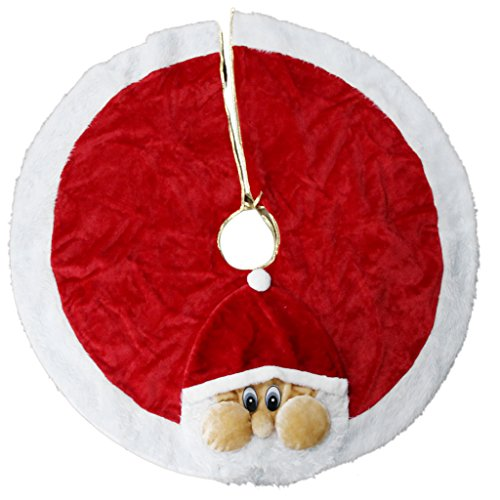 Santa Plush Christmas Tree Skirt