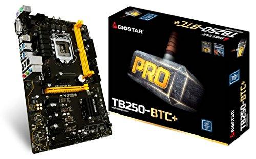 BIOSTAR TB250-BTC+ 8 GPU SUPPORT LGA 1151 Core i7/i5/i3 LGA1151 Intel B250 DDR4 by Biostar