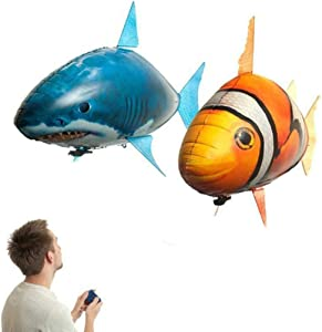Kengsiren Remote Control Flying Fish Remote Control Clownfish Flying Shark Remote Control Toy Children's Artifact Toy