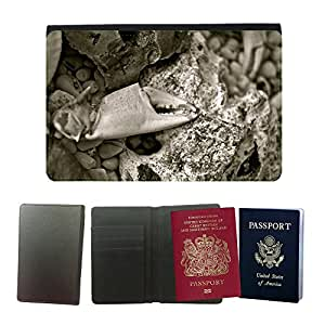 Hot Style PU Leather Travel Passport Wallet Case Cover // M00110364 Cancer Shell Stone Sea Lake Animal // Universal passport leather cover