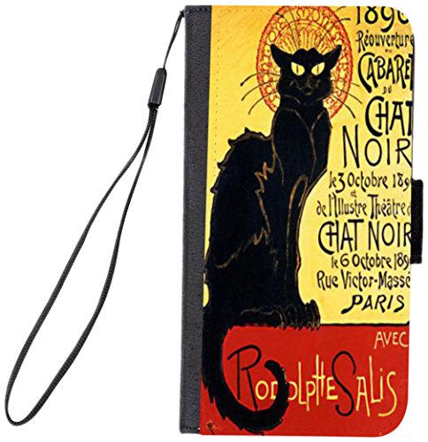 Rikki Knight Premium PU Wallet Flip Case with Kickstand and Magnetic Flap for iPhone 7 PLUS - La Chat Noir Design