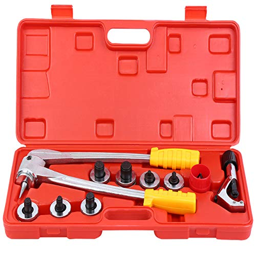 """Ridgeyard Aluminum Copper Steel Lever Tube Expander Tool Kit Swaging Kit with Tube Cutter Deburring Tool and 7 Expander Heads 3/8"""", 1/2"""", 5/8"""", 3/4"""", 7/8"""", 1"""", 1-1/8"""" from Ridgeyard"""
