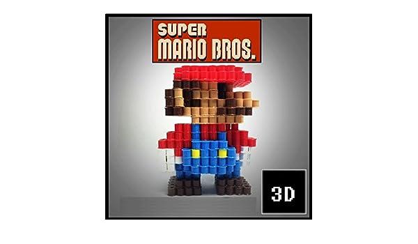 Figuras 3D de Pixel Art hama hechas a mano modelo Super Mario Bros ...
