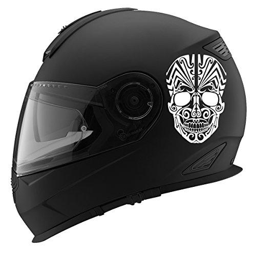 (Tribal Skull Design Auto Car Racing Motorcycle Helmet Decal - 5