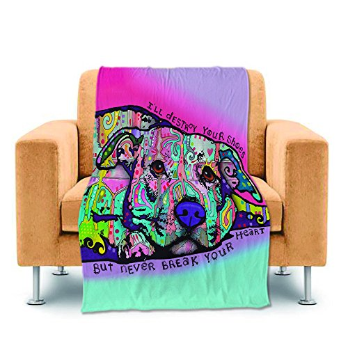 CafeTime Customize Art Pet Dog Design Home Throw Blankets Cu