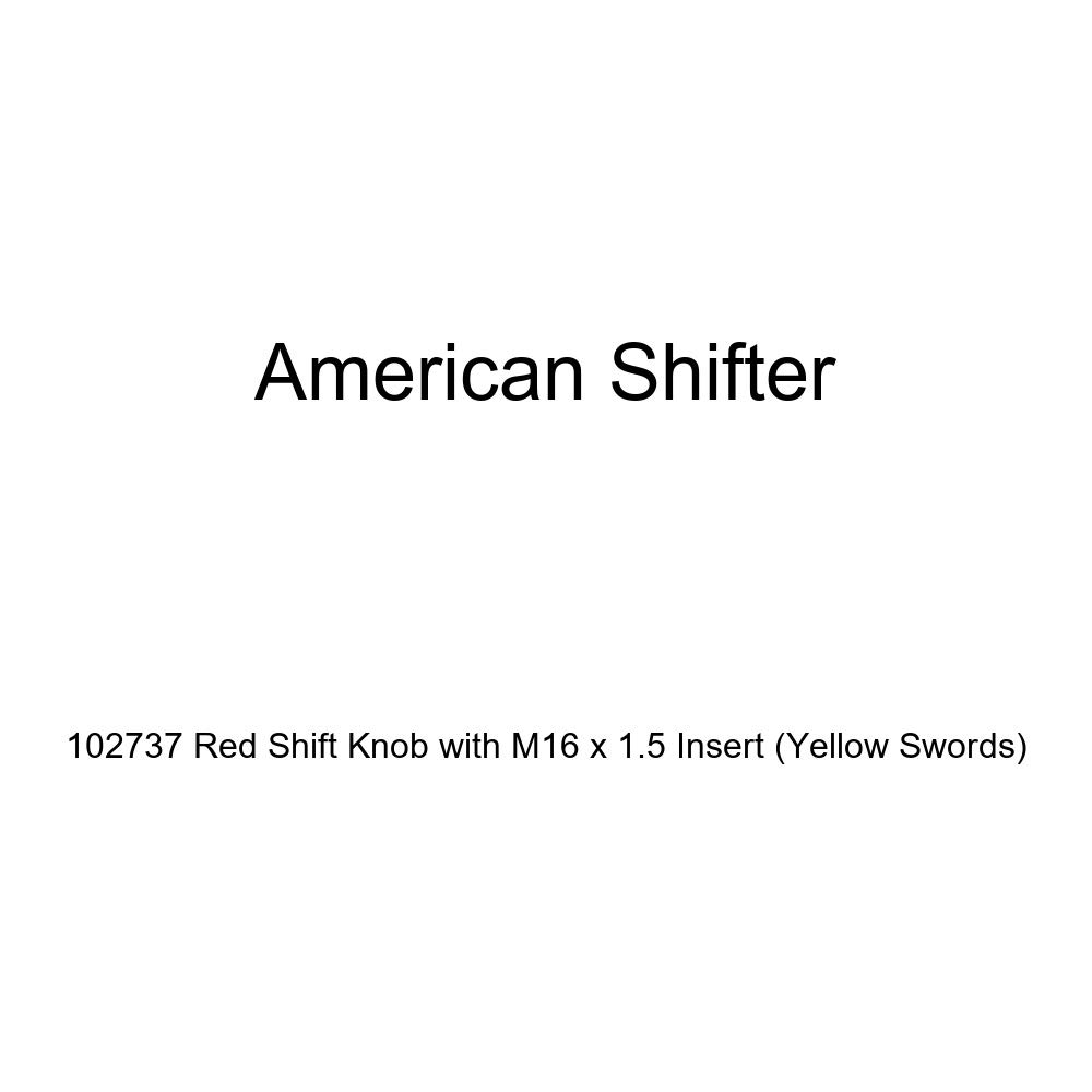 Yellow Swords American Shifter 102737 Red Shift Knob with M16 x 1.5 Insert