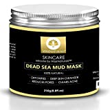 WiseNaturals Dead Sea Mud Mask - 100% Natural Organic Mud For Face & Body - Anti-Aging Effect - Heals Acne & Eliminates Blackheads - Deep Skin Cleanser - Melts Cellulite - Spa Quality At Your Place