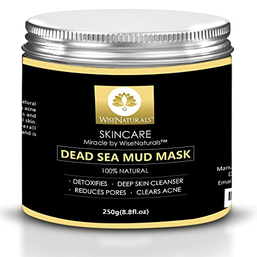WiseNaturals Dead Sea Mud Mask - 100% Natural Organic Mud For Face & Body - Anti-Aging Effect - Heals Acne & Eliminates Blackheads - Deep Skin Cleanser - Melts Cellulite - Spa Quality At Your Place (Face Spa Purifying Clay Mask compare prices)