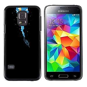 Caucho caso de Shell duro de la cubierta de accesorios de protección BY RAYDREAMMM - Samsung Galaxy S5 Mini, SM-G800 - Surrealista Vía Láctea Buceo