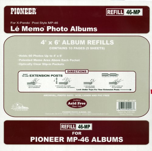 (Pioneer Memo Pocket Album Refill 4-Inch by 6-Inch for mp-46)