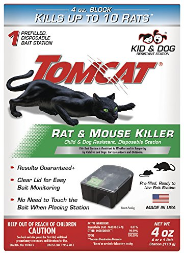 Tomcat 0370510 Tier 1 Disposable Rat & Mouse Bait Station (pack OF 4)