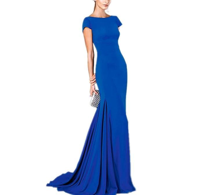 Special Bridal - Vestido - Manga corta - para mujer Azul azul XX-Small