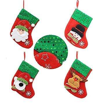 Finsink de Calcetines de Navidad Botas de Navidad Chucherías Funda de Navidad calcetín para decoración de