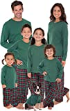 PajamaGram Family Christmas Pajamas Cotton - Flannel, Red/Green, Women, L, 12-14