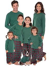 Family Christmas Pajamas Flannel - Christmas PJs Matching, Red/Green