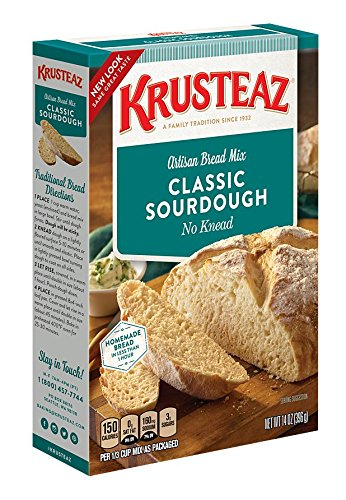 (Krusteaz No Knead Classic Sourdough Artisan Bread Mix, 14-Ounce Boxes (Pack of 12))