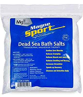 MagneSport 100% Dead Sea Bath Salts, 2. 2lb bag