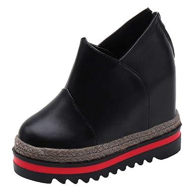 49005151eee Amazon.com   T-JULY Women Casual Platform High Heels Sneakers Female ...