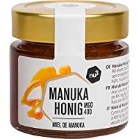 nu3 Miel de Manuka - Miel pura 100% original de Nueva Zelanda - Tarro de vidrio con 125g 400+ MGO - Centrifugada en frío…