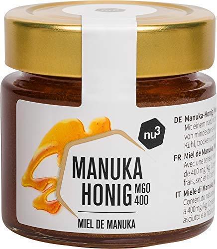 nu3 Miel de Manuka| Miel original de Nueva Zelanda | Tarro de vidrio con 125g ...
