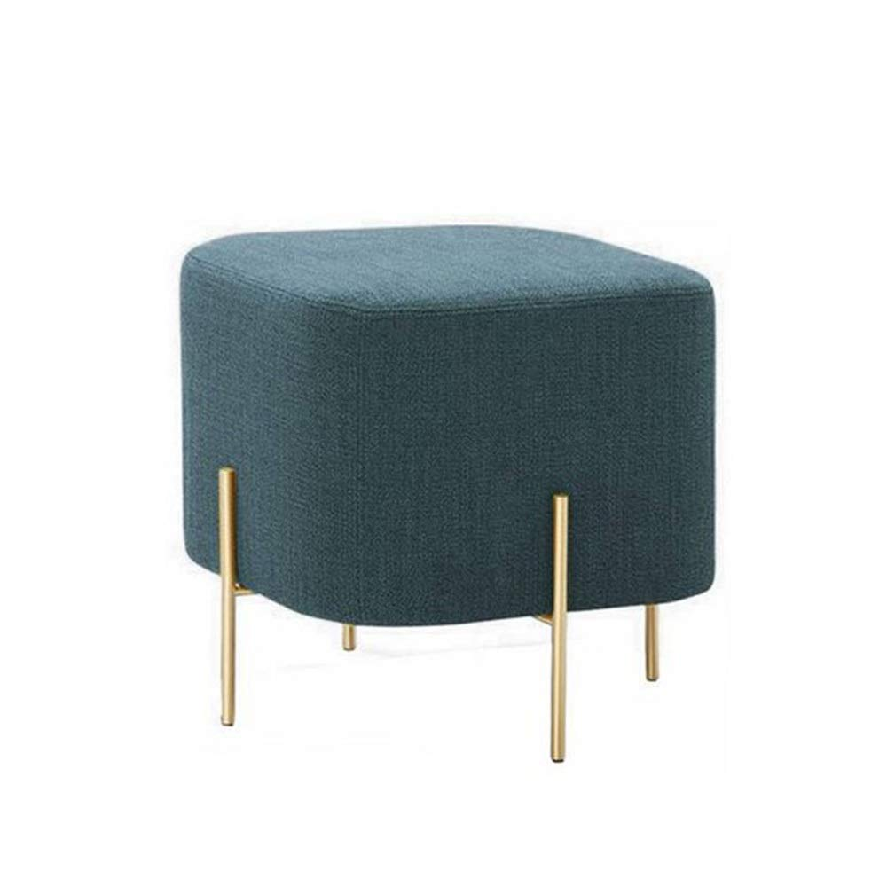 Green AO-Stool Simple Modern Small Creative Stool Sofa Bench Bench Fashion Home Low Stool Fabric Fitting Room Change shoes Bench Pedal (color   Green)