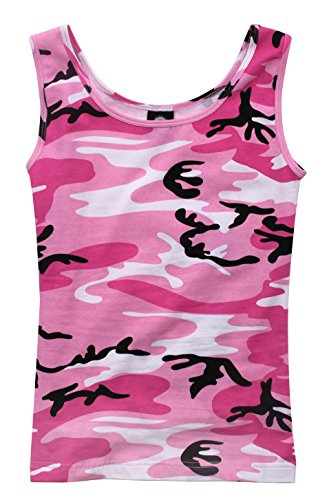- Rothco Women's Camo Stretch Tank Top, Pink Camo, Small