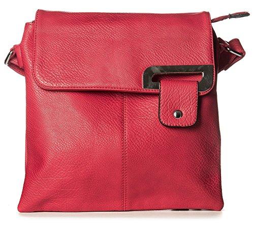 Multicolor Bolso De Cruzados Piel Other Red Para Mujer Mediano Y7qdWzv