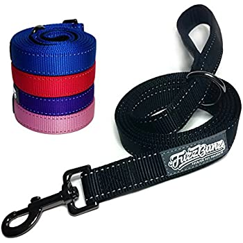 Heavy Duty Dog Leash Keeps Your Dog Safe & Secure - 6ft Long Premium Quality Lead with Padded Handle & Reflective Stitching