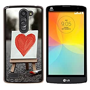 - Lover heart red rose - - Cubierta del caso de impacto con el patr??n Art Designs FOR LG L Bello L Prime D337 Queen Pattern