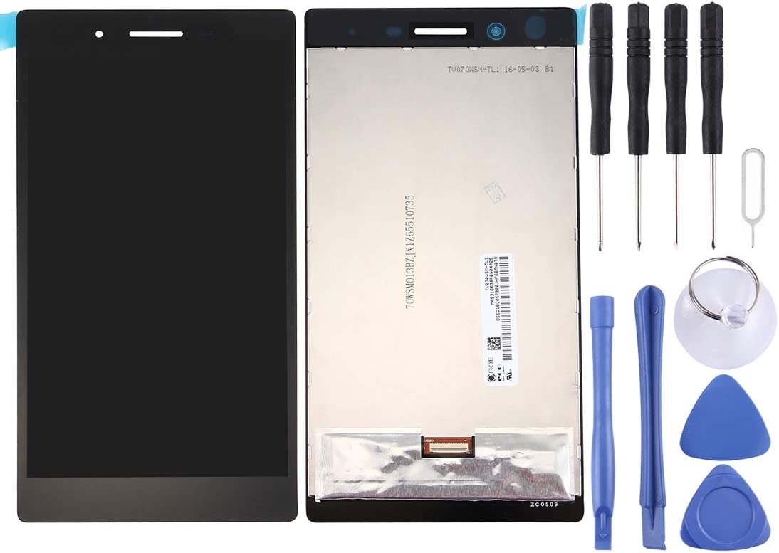 Zhouzl Mobile Phone LCD Screen LCD Screen and Digitizer Full Assembly for Lenovo Tab3 7 / Tb3-730 (Black) LCD Screen (Color : Black)