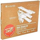 Leolandia Red Baron Creative DIY Cardboard Airplane Model