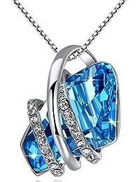 Wish Stone Pendant Necklace Made Swarovski Crystals...