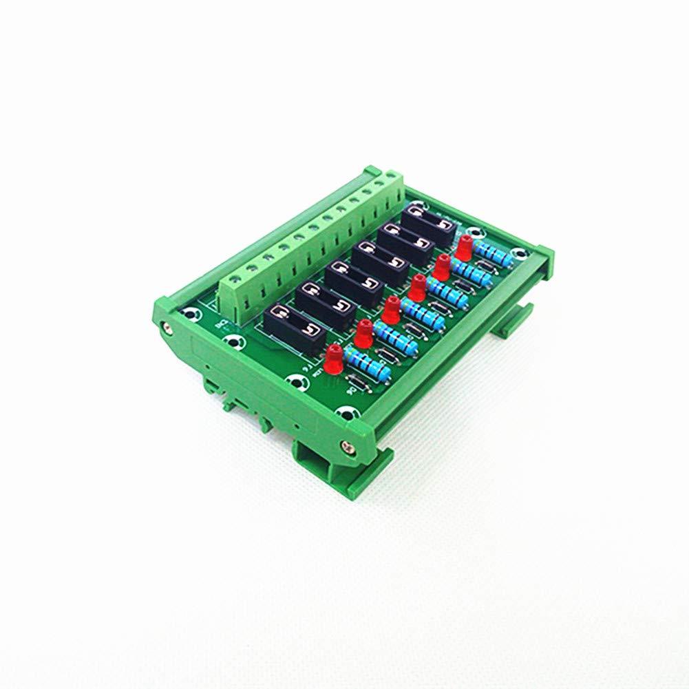 DIN Rail Mount 6 Channel Fuse Module Board.