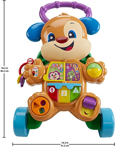 51Qc0U1q9GL - Fisher-Price Laugh & Learn Smart Stages Learn with Puppy Walker