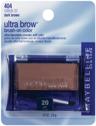 - Maybelline New York Ultra-Brow Brow Powder,Shade #20 / #404 Dark Brown, 0.1 Ounce