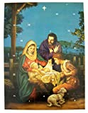 Pack of 12 O Holy Night Nativity 10-inch Advent Calendar