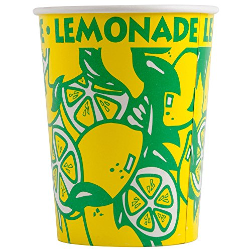 Perfect Stix LCL32-40 Squat Paper Lemonade Cup with Lids, 32 oz. (Pack 40 Cups, Straws and Lids) (Pack of ()